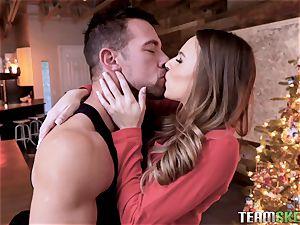 Christmas ass fucking smashing for sweet Jillian Janson