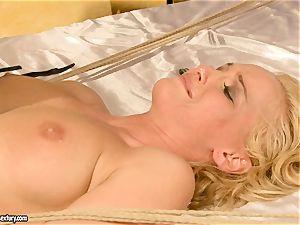 torrid Kathia Nobili gets her slit packed with boner