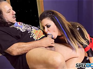 Jessica Jaymes is creamed by mature man