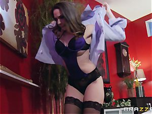 Married doll Chanel Preston gets titfucked and her cooter ravaging by thief