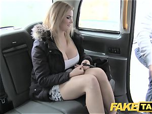 faux taxi gigantic natural milk cans on blondie model