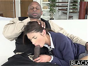 BLACKED Real Model with brilliant cupcakes loves black wood