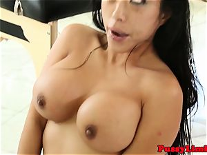 Bigtitted asian whore smashed rough from behind