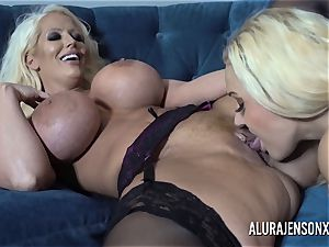Alura and her buxom all girl pal Dolly get insane
