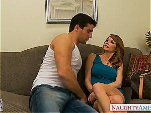 inked lady with meaty bosoms, Monique Alexander, taking a ample beef whistle inwards