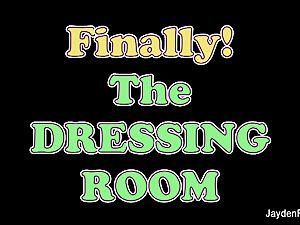 Dressing room masturbation with Jayden Jaymes