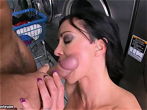 Rampant pearls enjoys getting her fleshy humid honeypot packed with huge stiff manstick