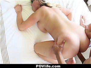POVLife - warm stunner Gets A gooey facial cumshot