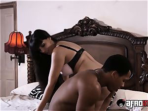 huge-chested Latina Mercedes Carrera big black cock nailed and creamed