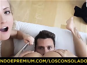 LOS CONSOLADORES - cute honey naked rubdown and 3some
