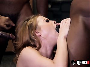 schoolteacher Britney Amber gets a individual blowbang with BBCs