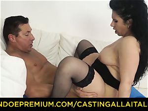 audition ALLA ITALIANA brown-haired nymphomaniac harsh assfuck sex