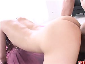 Konoha gets 2 studs to stimulate her hairy enjoy crevasses