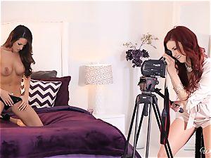 Jayden Cole seduces super-sexy casting gal Kortney Kane