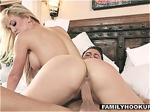 FamilyHookups - super-steamy blonde Stepmom drills Her Stepson