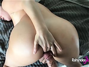 ass-fuck fuckfest with Rahyndee James point of view