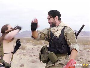 iron Gear Solid five anal invasion pornography parody with insane dark haired Casey Calvert