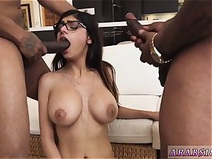Arab chick cock and My hefty dark-hued three-way
