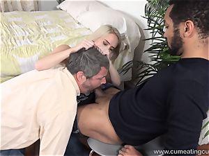 Cadence Lux Makes twat husband eats guys cum