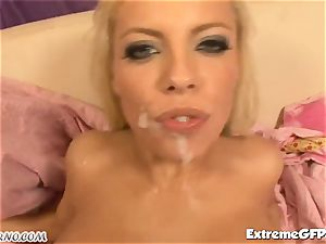 hot blond Britney Amber gets dual pounded