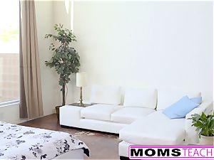 MomsTeachSex - steaming Step-Mom And teenage Get sloppy facial cumshot