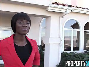 torrid dark-hued real estate agent smashes home buyer