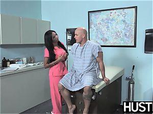 Latina nurse Sadie Santana gets both slots spread