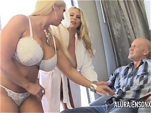 pornstar Alura Jenson has a 3some with Karen Fisher