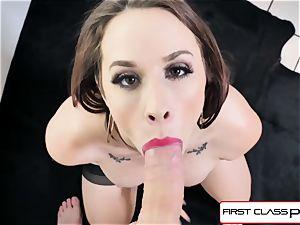 FirstClassPOV - magnificent Chanel Preston deep-throat a big meatpipe