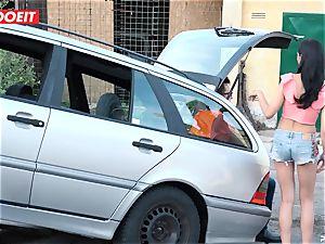 LETSDOEIT - teen humps aged stud For Free Car Repair