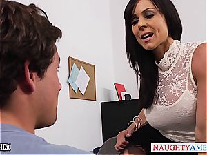 Office milf Kendra lust gets torn up on the desk