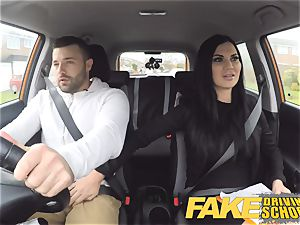 fake Driving school Jasmine Jae totally nude bang-out in car