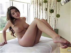 Oily session and internal massage for August Ames