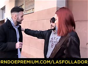 LAS FOLLADORAS - inked redhead pornstar drilled rock-hard