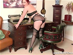 red-haired is antique nylon fetish bitch at masturbate Off Club