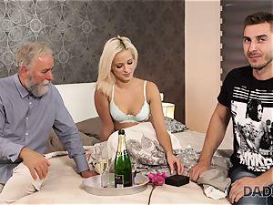 DADDY4K. nymph rails elderly gent s joystick in father pornography video