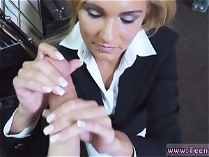 assfuck gooey cum-shot and very first time hot mummy fucked At The PawnSHop