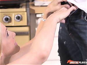 nasty Julia Ann slammed deep in her vulva