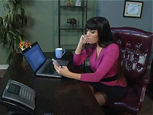 Mercedes Carrera gets an workers beef whistle deep inside her