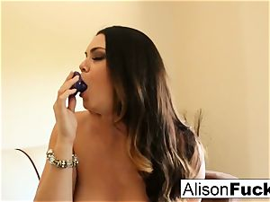 massive titted bombshell Alison Tyler plays with her snatch