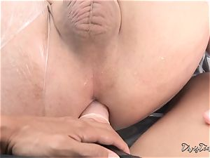 Dana mistreats her dude with a thick dildo
