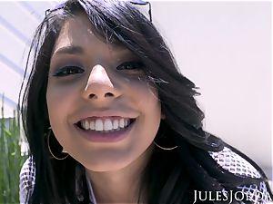 Jules Jordan - Gina Valentina's very first ass-fuck