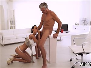 naughty elder grandmother and dangled stud first-ever time finally she s got her chief manstick
