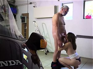 Such an virginal smallish youthfull cootchie for old naughty guy