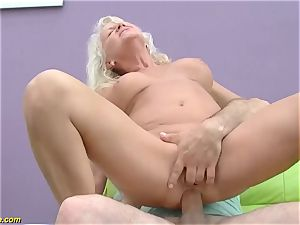 beautiful 73 years senior mom very first hefty meatpipe assfuck ravage