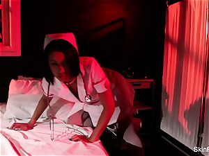 super scorching nurse flesh Diamond gives a killer taunt