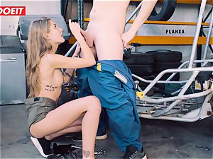 LETSDOEIT - cutie Gets trembling orgasm from Mechanic