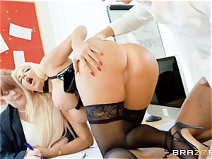 Nicolette Shea gets her concentration studied in this hot interview