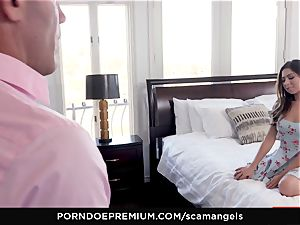 SCAM ANGELS - Gina Valentina gang orgy with super-hot stunners
