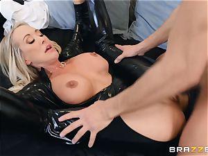 Brandi enjoy banged in her humid gash
